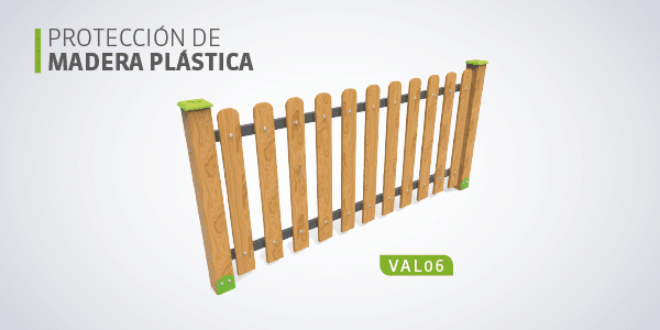 valla madera plastica wpc